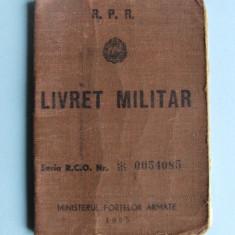 LIVRET  MILITAR    R.P.R.  -  1957
