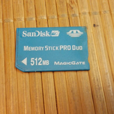 Memory Stick Pro Duo 512 MB - Card Memory Stick Pro Duo