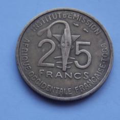 25 FRANCS 1957 -TOGO, Africa