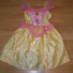 Costum carnaval serbare printesa belle pentru copii de 4-5-6 ani - Costum Halloween, Marime: Masura unica, Culoare: Din imagine