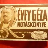 Culegere Cantece Maghiare prelucrate Revfy Geza cca 1890- 31 cantece - Carte Arta muzicala