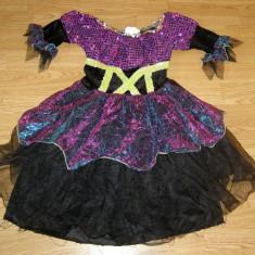 Costum carnaval serbare vrajitoare pentru copii de 3-4 ani - Costum Halloween, Marime: Masura unica, Culoare: Din imagine