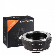 Inel Adaptor lentile Nikon AI - Body Micro 4/3 Olympus Panasonic M4/3 - Inel adaptor obiectiv foto