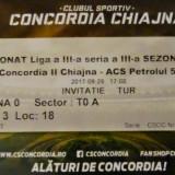 Bilet Concordia Chiajna  2 v Petrolul Ploiesti Liga 3 Seria 3 29.9.2017