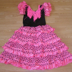 Costum carnaval serbare rochie dans flamengo pentru copii de 7-8 ani - Costum dans, Marime: Masura unica, Culoare: Din imagine