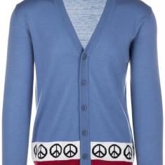 Cardigan Love Moschino - Pulover barbati, Marime: M, Culoare: Albastru, M, Lana