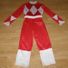 Costum carnaval serbare power rangers ninja pentru copii de 6-7 ani - Costum Halloween, Marime: Masura unica, Culoare: Din imagine