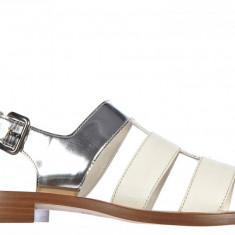 Sandale Miu Miu - Sandale dama Miu Miu, Culoare: Alb, Marime: 37.5, Alb