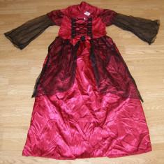 Costum carnaval serbare regina printesa pentru copii de 8-9-10 ani - Costum Halloween, Marime: Masura unica, Culoare: Din imagine