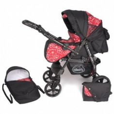 Carucior Copii 2 in 1 Hubners Tessa Lux Red Flowers