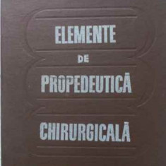 Elemente De Propedeutica Chirurgicala - N. Angelescu, 403040 - Carte Chirurgie