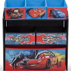 Organizator jucarii cu cadru din lemn Lightning McQueen - Set mobila copii
