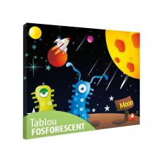Tablou fosforescent Extraterestrii veseli