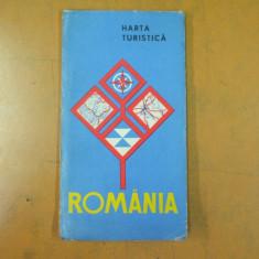 Romania harta turistica drumuri turistice linii aeriene distante rutiere