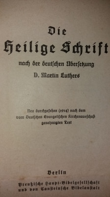 D. MARTIN LUTHERS - DIE HEILIGE SCHRIFT - DAS NEUE TESTAMENT  {1914} foto