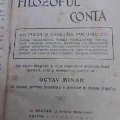 FILOZOFUL CONTA*OPERE COMPLECTE/ OCTAV MINAR/ PRIMA EDIȚIE/1910 - Carte Filosofie