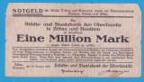 (1) BANCNOTA GERMANIA - ZITTAU SI BAUTZEN - 1 MILLION MARK 1923 (16 AUGUST 1923)