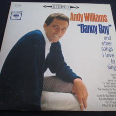 Andy Williams - Danny Boy And Other Songs I Love To Sing _vinyl, LP_Columbia(SUA) - Muzica Pop Columbia, VINIL
