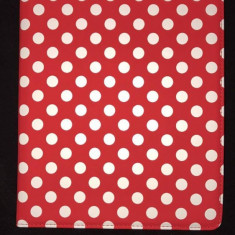Husa tableta rotativa iPad Air 2/3/4 rosu cu buline albe
