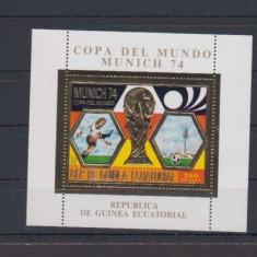 GUINEA ECUATORIALA 1974 FOTBAL CUPA MONDIALA FOITA AUR SI SUPRATIPAR