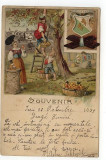 Litografie reclama Ciocolata Suchard, circulata octombrie 1899, Fotografie