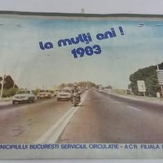 CALENDAR ,, MILIȚIA MUNCIPIULUI BUCUREȘTI SERVICIUL CIRCULAȚIE ACR * 1983