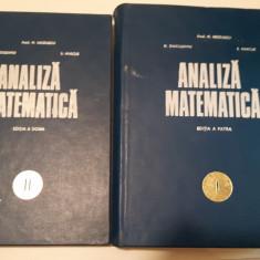 Analiza Matematica - M. Nicolescu N. Dinculeanu S. Marcus ( Vol.1si2) - Carte Matematica