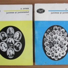 Z. Ornea JUNIMEA SI JUNIMISMUL 2 volume BPT 1998 1482, 1481 - Studiu literar