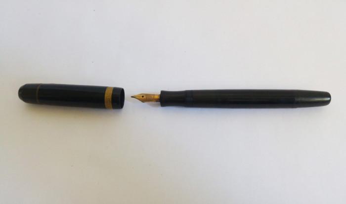 (T) Stilou vechi Matador Express Kaweco Dia, penita de aur 14 kt Manifold