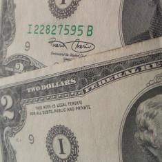 Lot / Set 2 Bancnote 2 Dolari - SUA serii consecutive UNC *cod 538 --- a.UNC - bancnota america, An: 2003