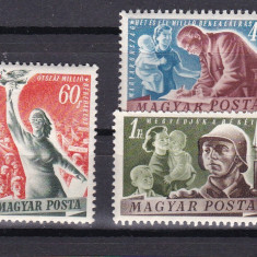Ungaria 1950 Pacea MI 1139-1141 MNH w46 - Timbre straine, Nestampilat
