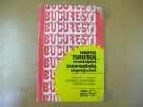 Bucuresti harta turistica municipiu centru imprejurimi 1983