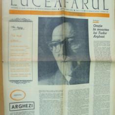 Luceafarul 22 iulie 1967 moarte Arghezi Piliuta Sutianu Petrescu Coanda Oituz - Revista culturale