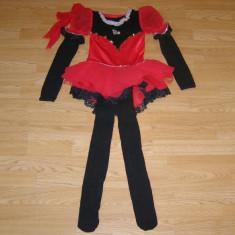 Costum carnaval serbare rochie dans gimnastica pentru copii de 8-9 ani - Costum dans, Marime: Masura unica, Culoare: Din imagine