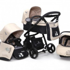 Carucior 3 in 1 Copii 0-36 luni Cangaroo Sarah Puppy Bej - Carucior copii 3 in 1