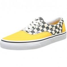 Tenesi Vans Men's Ua Era Low-Top Sneakers marimea 40.5 - Tenisi barbati Vans, Culoare: Galben, Textil