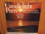 -Y- CANDLELIGHT PARTY - ROY ETZEL / PAUL MAURIAT / BILLY VAUGHN - DUBLU ALBUM, VINIL