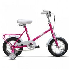 Bicicleta Pegas SOIM ROZ GUMA CU ROTI AJUTATOARE - Bicicleta copii