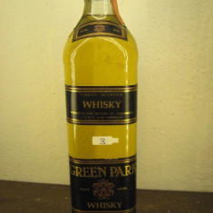 Whisky nr. 3 - GREEN PARK, RARE OLD FINEST BLENDED  WHISKY cl 70 gr 40 ANI 90