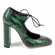 Pantofi Versace V 1969, 38, Verde, Cu toc