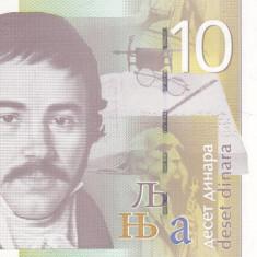 Bancnota Serbia 10 Dinari 2006 - P46a UNC