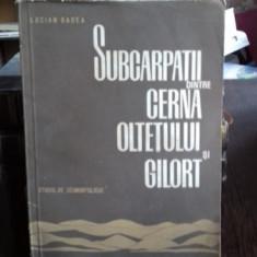 SUBCARPATII DINTRE CERNA OLTETULUI SI GILORT - LUCIAN BADEA (STUDIU DE GEOMORFOLOGIE)