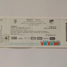 Bilet meci fotbal ROMANIA - TURCIA (09.11.2017)