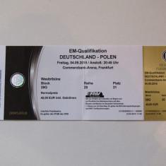 Bilet meci fotbal GERMANIA - POLONIA (04.09.2015)