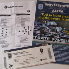 """Program-foaie de joc-bilet meci fotbal """"U""""CRAIOVA - ASTRA Giurgiu(10.03.2018)"""
