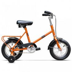Bicicleta Pegas SOIM PORTOCALIU MORCOV CU ROTI AJUTATOARE - Bicicleta copii