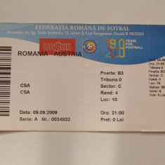 Bilet meci fotbal ROMANIA - AUSTRIA (09.09.2009)