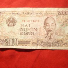 Bancnota 2000 dongi Vietnam 1988, cal. buna - bancnota asia