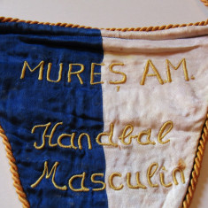 Fanion (brodat-vechi 1964) Handbal MURES AM (SPARTACHIADA Republicana) - Fanion handbal