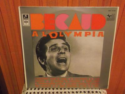 -Y-  Gilbert Bécaud – Bécaud À L'Olympia - DISC VINIL LP foto